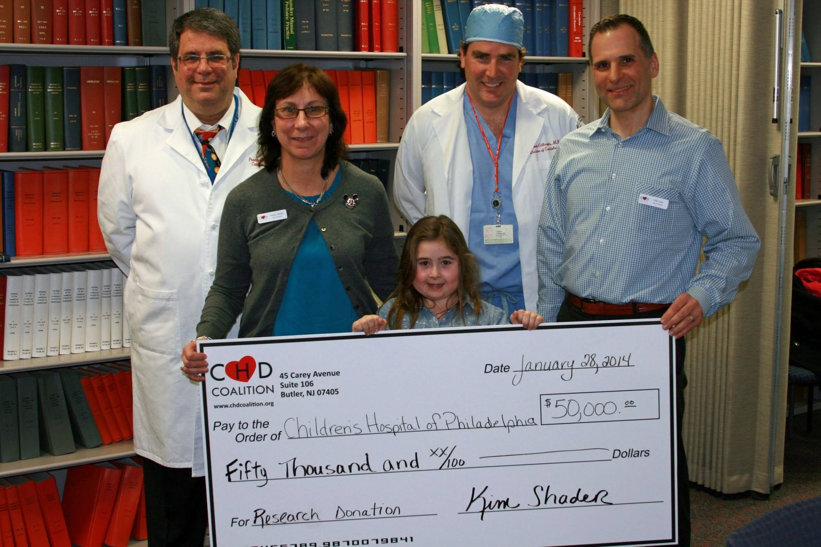 CHD Coalition Donates Over $50,000 for Lifesaving Research