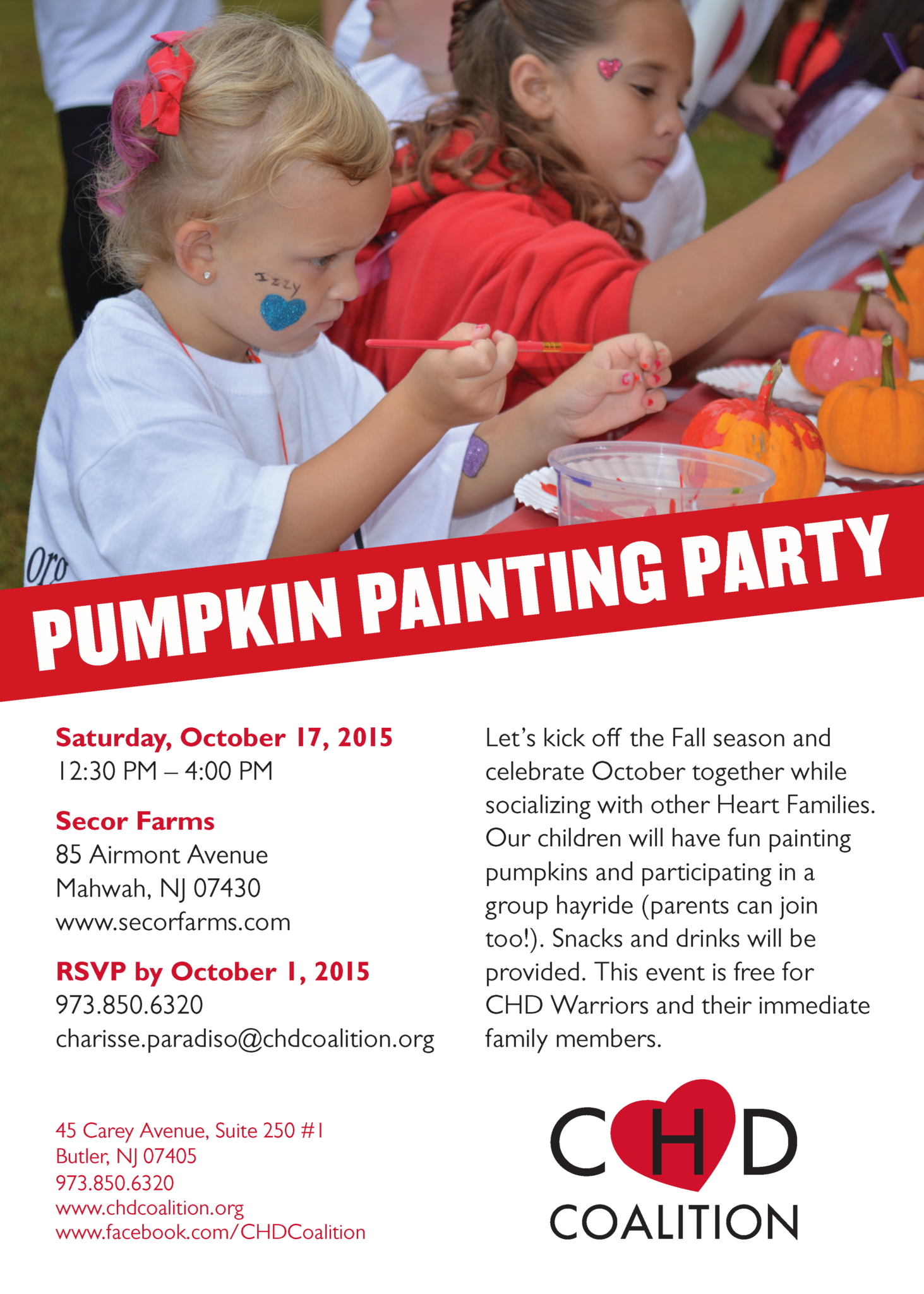 Pumpkin Painting Party October 17th