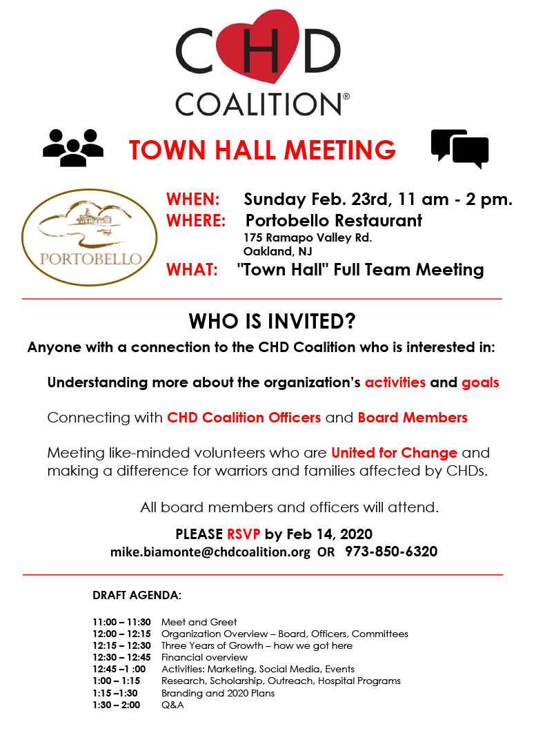 Town Hall 2020 - Flyer